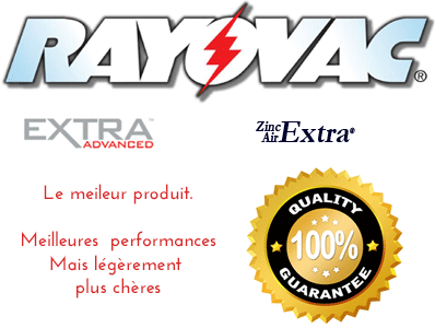 piles auditives RayovacExtra advanced qualité prix