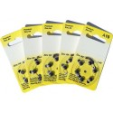 5 Pack of 6 Hearing Aid Batteries A10