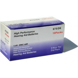 Hearing Aids Batteries A675