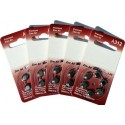 5 Packs of 6 Hearing Aid Batteries A312