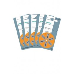 Pack de 5 x 6 Piles auditives Siemens S13