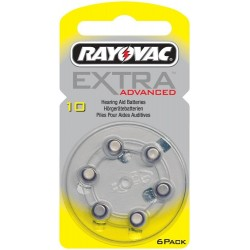 6 Piles auditives Rayovac EXTRA Advanced 10