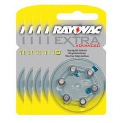 5 blister van 6 Hoorbatterijen Rayovac Advanced Extra 10
