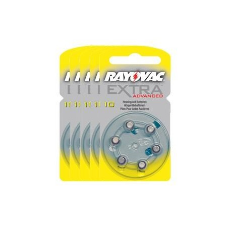 Pack de 5 x 6 Piles Rayovac EXTRA Advanced 10
