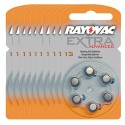 Pack de 10 x 6 Piles auditives Rayovac Extra Advanced 13