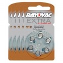 5 packs of 6 Hearing Aid Batteries Rayovac EXTRA 312