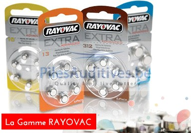 La gamme de piles auditives rayovac
